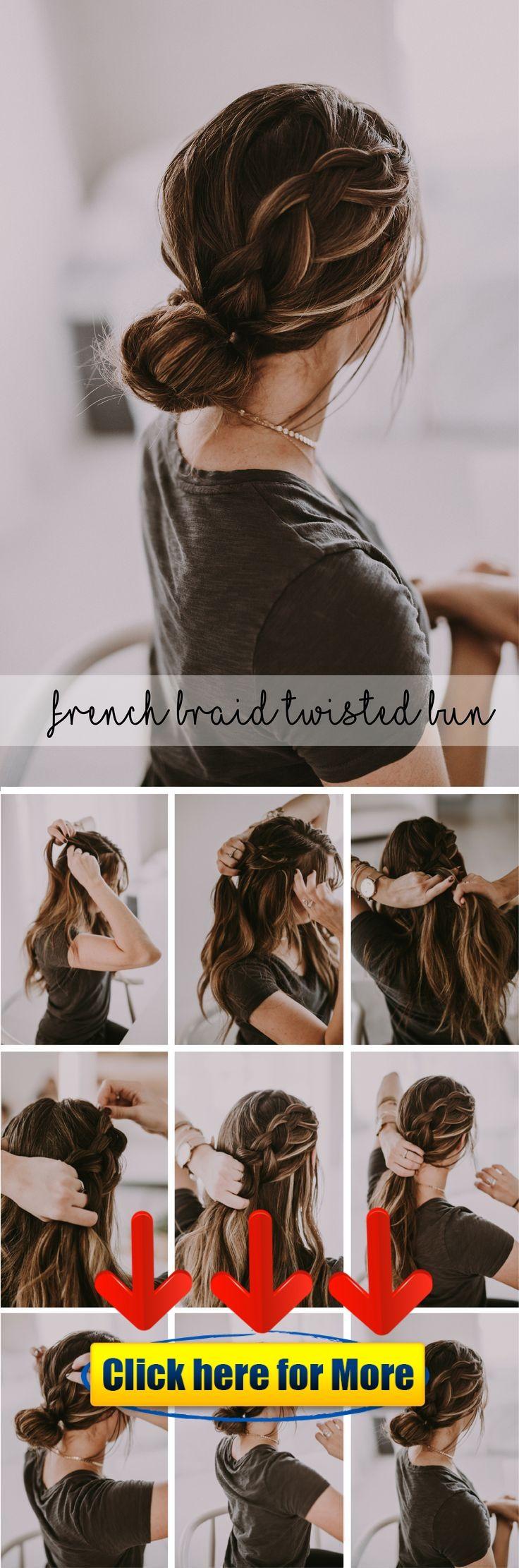 French Braid Bun Tutorials ? #hairstyle #hair #2019 #woman #man