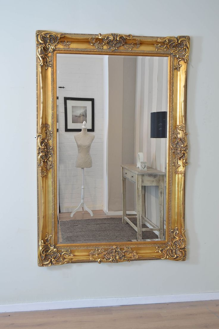 6Ft X 4Ft 183cm X 122cm Very Large Gold Antique Style