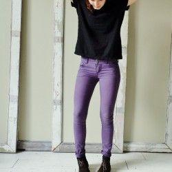 Strakke paarse skinny jeans