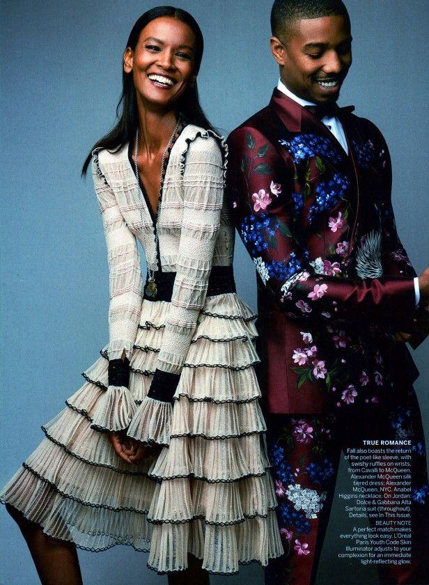 Liya Kebede and Michael B Jordan by Patrick Demarchelier for Vogue US August 2015