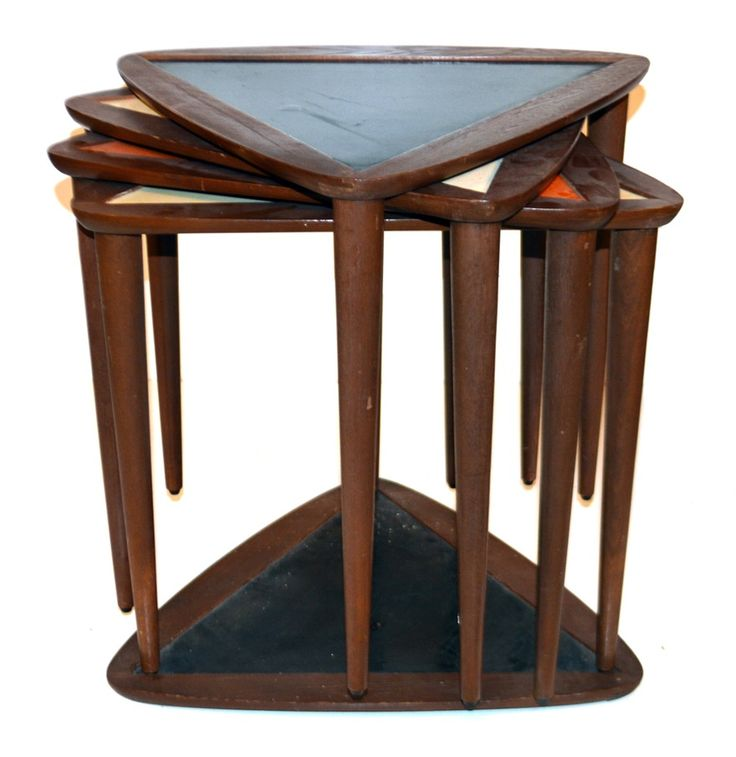 retro modern furniture. midcentury triangular nesting tables retro modern furniture m