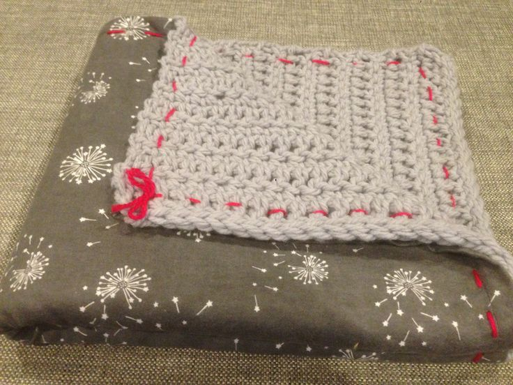 So pleased with how this flannelette backed blanket turned out. A gift for my friend's new baby girl.