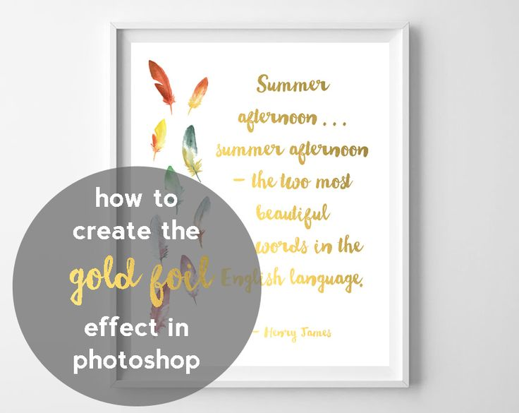 How to get foil effect... it's easy, so today, I'm sharing with you how to create a faux gold foil effect in Photoshop! I'm actually going to use Photoshop Elements for this, but the technique should apply no matter what version of Photoshop or Elements you have. To do this, you'll need gold foil digital paper, Photoshop,...