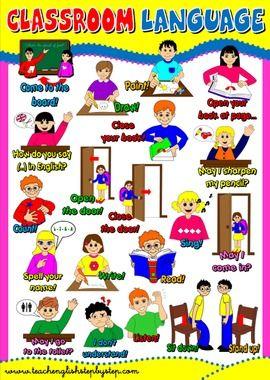 #CLASSROOM LANGUAGE POSTER | teaching | Classroom language ...