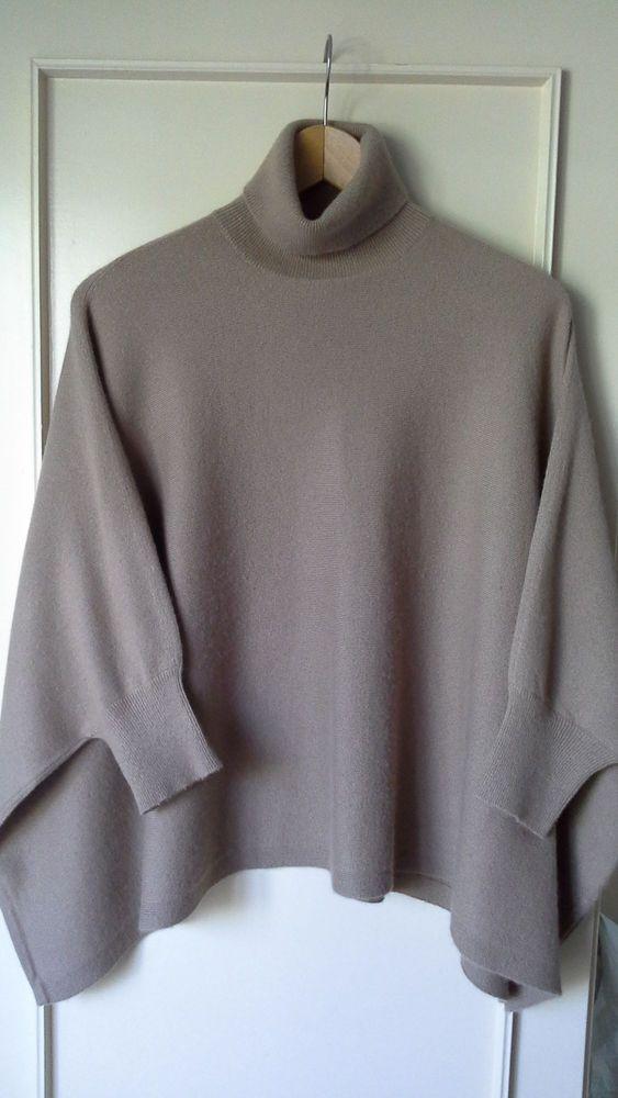 Michael Kors Camel cashmere Short Sleeved Oversize Sweater  #MachelKors #Sweater