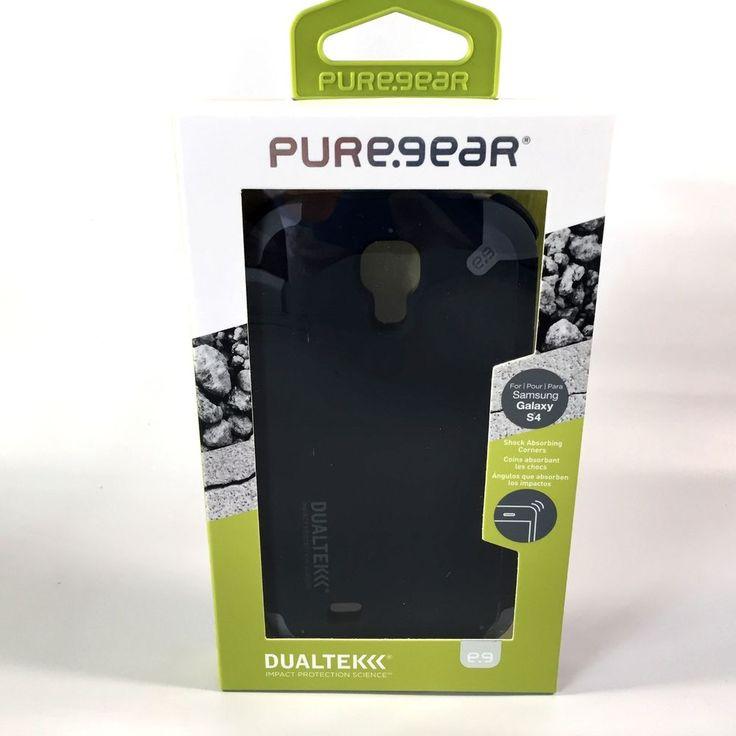 PUREGEAR DUALTEK CASE MATTE BLACK COVER FOR SAMSUNG GALAXY S4 60164PG #PureGear