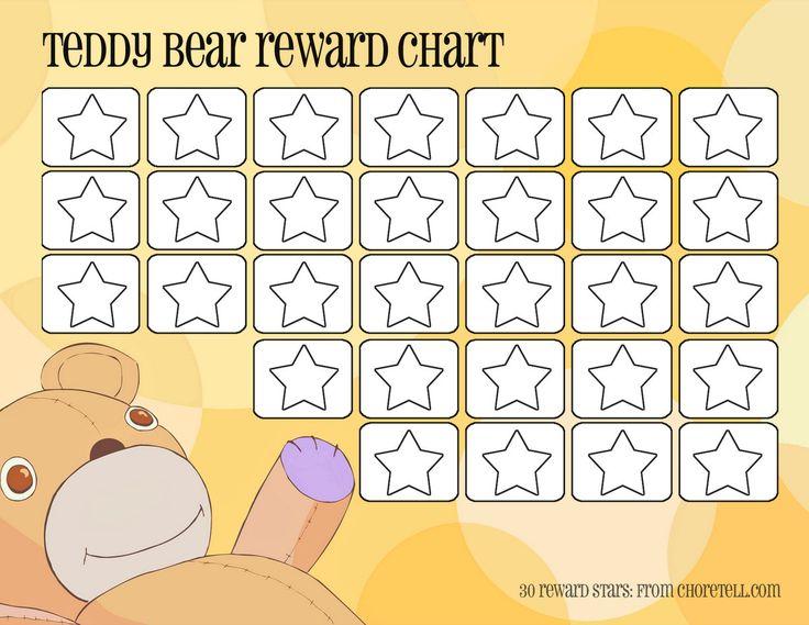 teddy bear reward chart