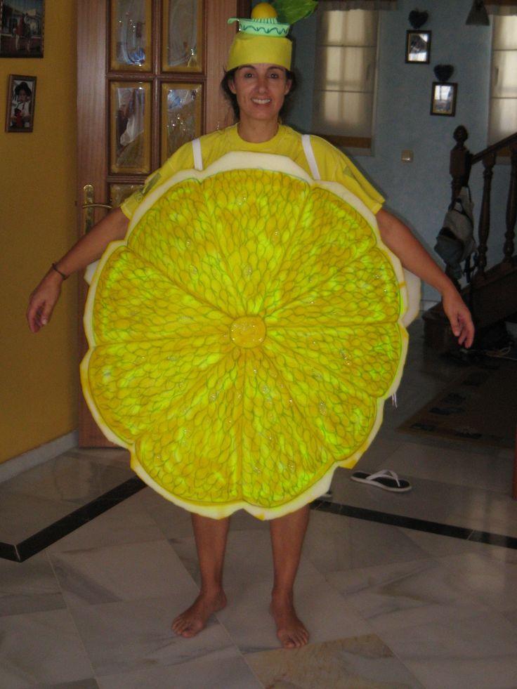 Disfraz de lim n con goma espuma y en el gorro exprimidor - Espuma de limon ...