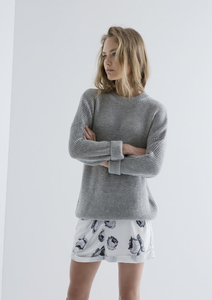 THE FIFTH - Jewels And Gold Knit - Light Grey Marle