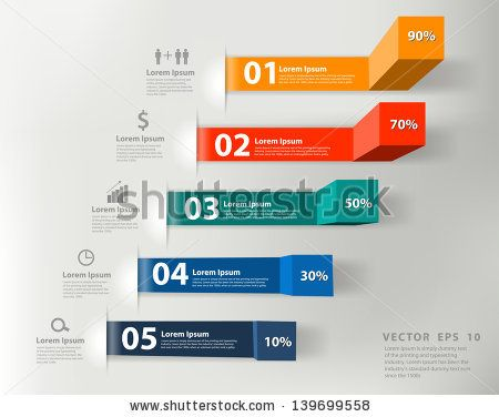 Modern Business Steps To Success Charts And Graphs Options Banner. Vector Illustration Modern Design Template - 139699558 : Shutterstock