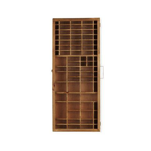 wandschrank mit setzkasten schr nke regale kisten. Black Bedroom Furniture Sets. Home Design Ideas