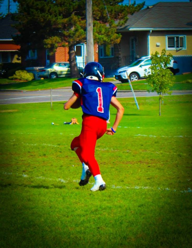 my little brother playing football