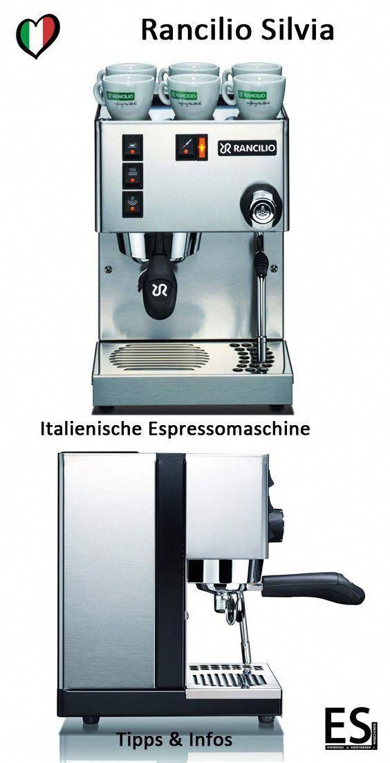 Espressomaschine Rancilio Silvia Mit Siebträger Die Rancilio Silvia
