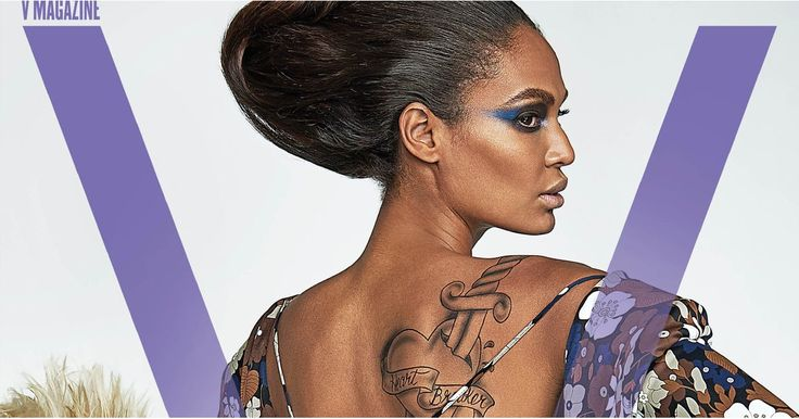 Joan Smalls Is Showing Lots of Skin and a Sexy Tattoo on the Cover of V Magazine
