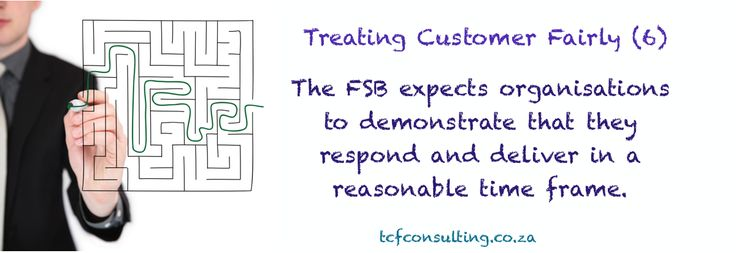 Treating Customer Fairly (6) Claims, complaints and changes