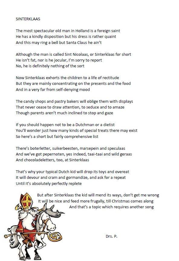 Sinterklaasliedje door Drs. P.