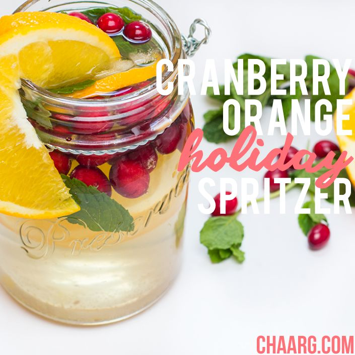 Cranberry Orange Holiday Spritzer -- CHAARG.com