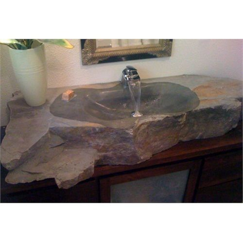 One Of A Kind Basalt Grey Stone Vessel Sink