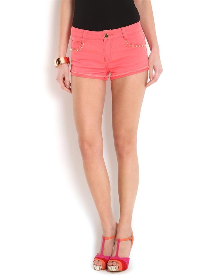 Mini-short en jean clouté #MORGANDETOI #shorts #outfit #summer