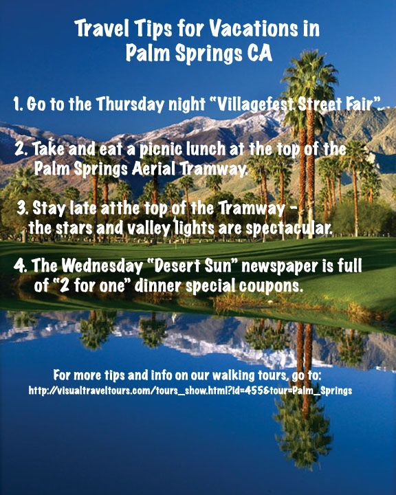 #Palm Springs #California #Walking Tour #Infographic