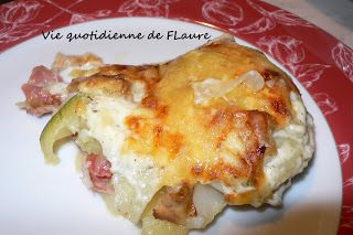 Gratin Parmentier, chou rave, courgette, jambon cru , deux fromages, Vie quotidienne de FLaure