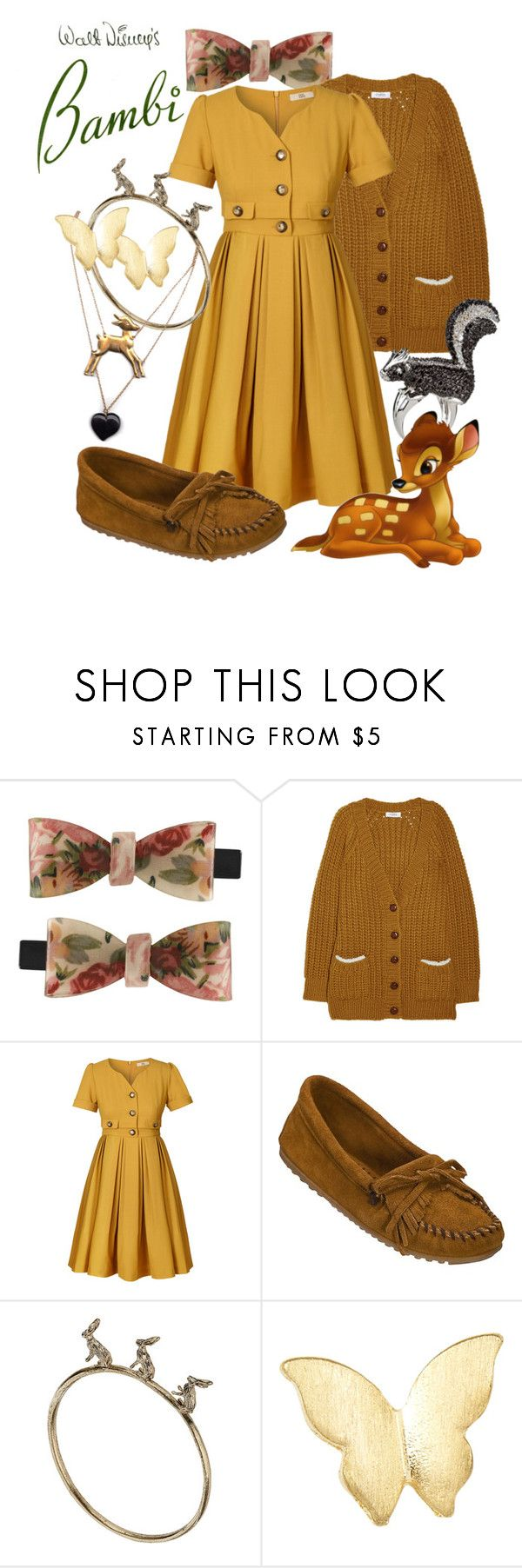 """Bambi"" by princesschandler ❤ liked on Polyvore featuring Miso, Sonia by Sonia Rykiel, Orla Kiely, Minnetonka, nOir, Miss Selfridge and Warehouse"