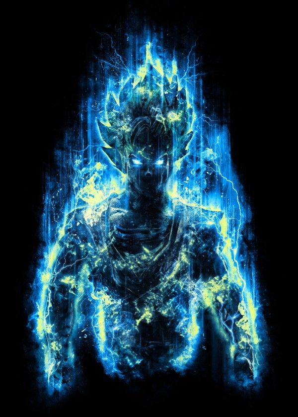 god super saiyan dbz dragon ball fighter power warrior blue hero goku anime manga japanese realistic emotion energy