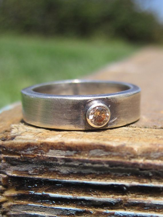 Silver and Champagne Ring by CopperTreeArt on Etsy, $110.00