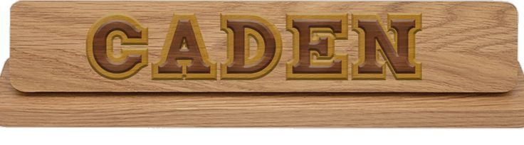 Think outside the box with your wooden name plate. Use it to decorate the baby's room!