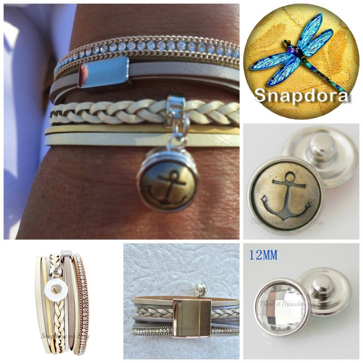 Mini snap bracelet with a very strong magnetic closure comes with 3 petite snap charms. by Snapdora on Etsy
