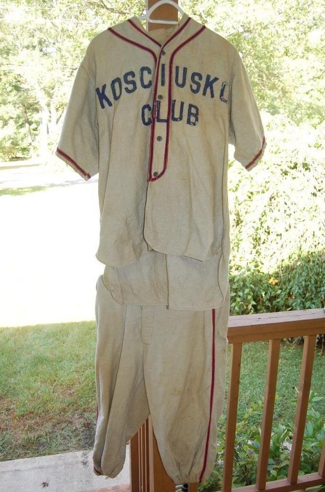 15e532459 Vintage baseball uniform kosciuski club university college school shirt jpg  662x1000 Vintage baseball uniforms