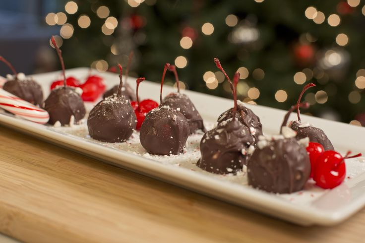 Cerezas Cubiertas con Chocolate.