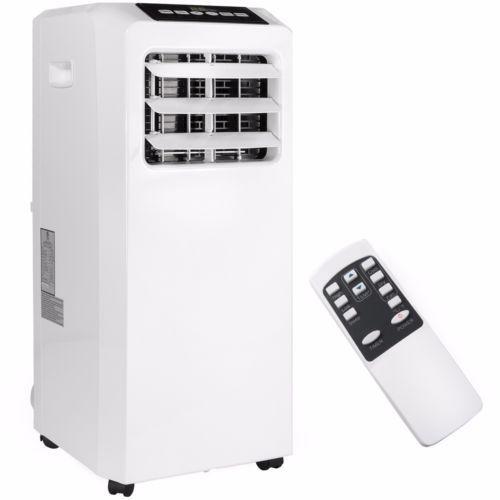 Portable-8000-BTU-AC-Air-Conditioner-Dehumidifier-fan-Unit-with-Remote-White