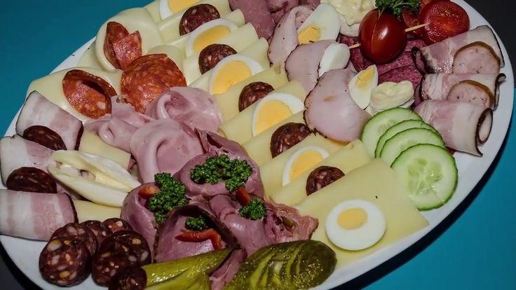 Gurmán servis - vytváření ozdobných prvků z uzenin a sýrů