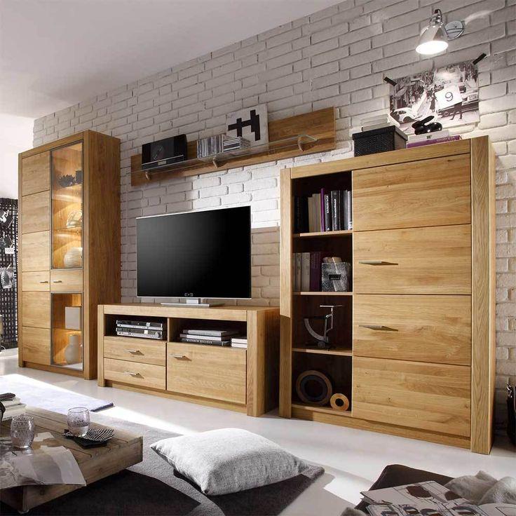 Más de 25 ideas increíbles sobre Wohnwand massiv en Pinterest - wohnzimmer eiche massiv modern