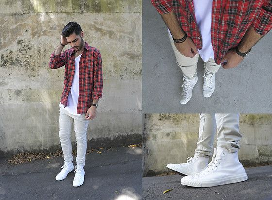 White Chuck Taylors Men