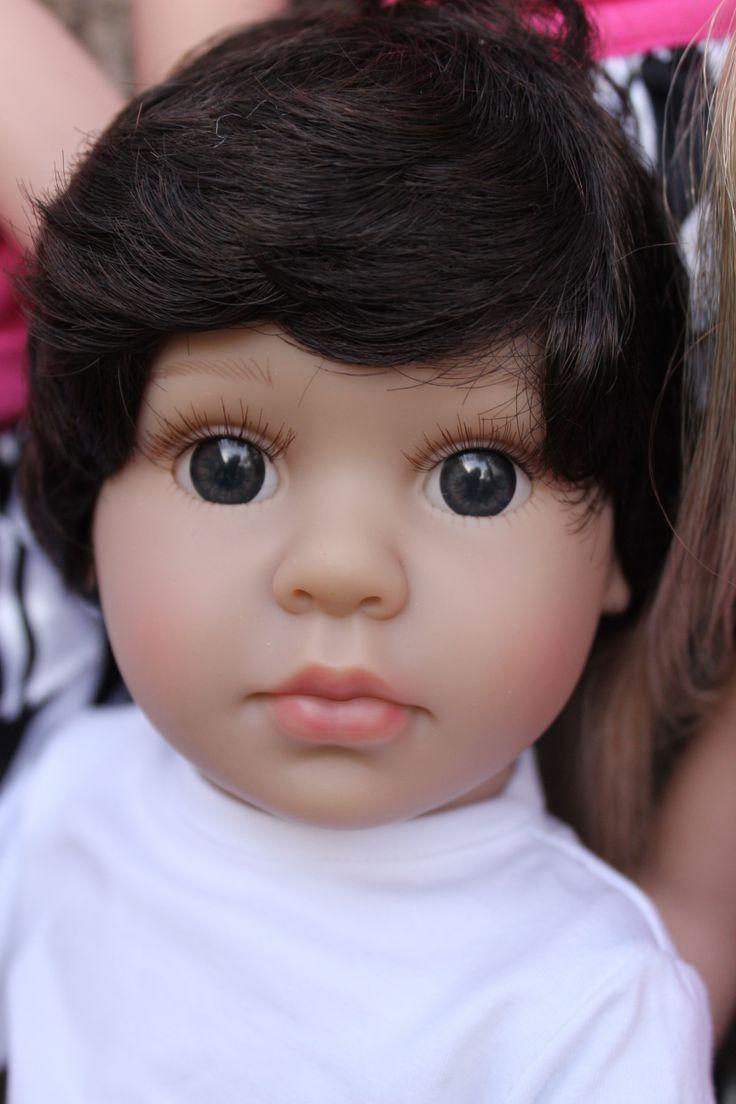 Meet 18 inch boy Doll, Mason, by Harmony Club Dolls www.harmonyclubdolls.com Soft bodied, vinyl poseable limbs, fixed realistic eyes.