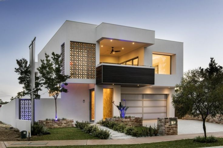 Unique Modern Home Exterior Design Of The Empire Residence With Comfortable Balcony  Design