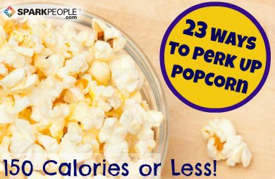 23 low-cal ways to flavor air-popped popcorn (I'm so trying these!) | via @SparkPeople