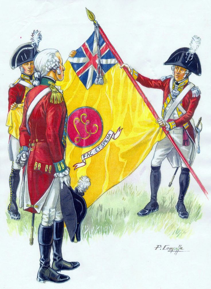 French emigre regiment in British service - the Loyal Emigrant Regiment, 1793-1796. They were eventually disbanded after returning from Portugal in 1801.