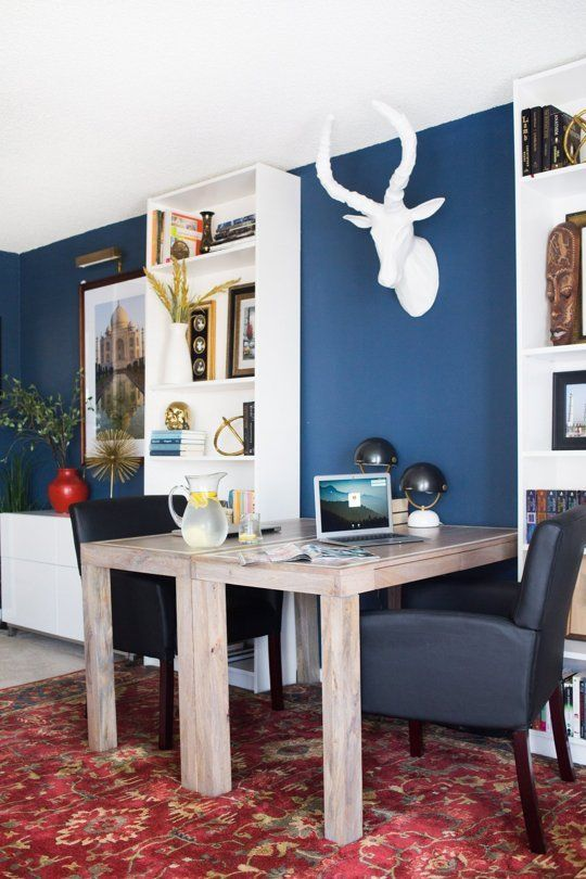 Before & After: A Bold His and Hers Office Compromise — Professional Project