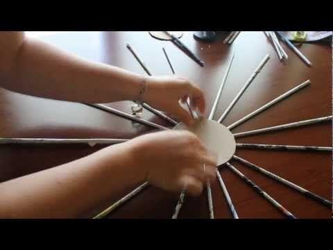 CUORE DI CANNUCCE DI CARTA, riciclo giornali - YouTube