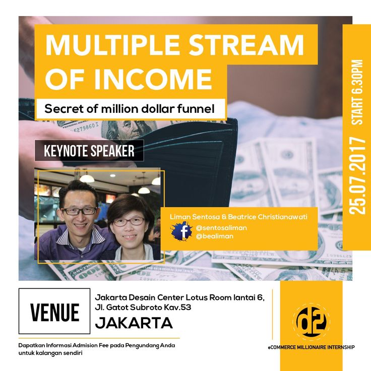 Event Workshop Multiple stream Of Income