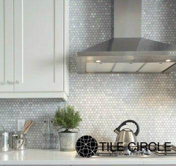 carrara hexagons and backsplash tile on pinterest