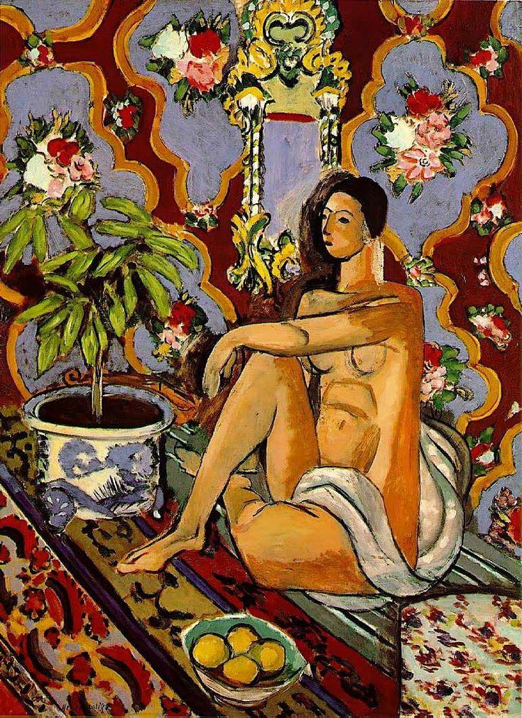 Matisse, Figura decorativa sobre fondo ornamental