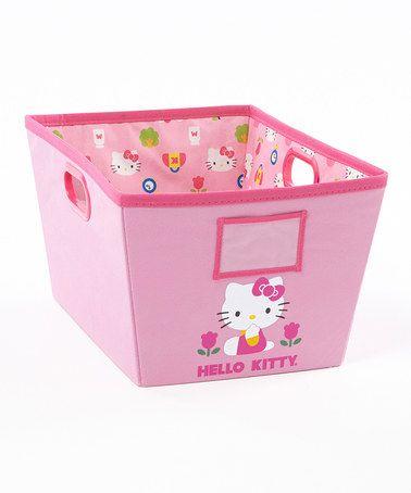 Another great find on #zulily! Pink Hello Kitty Bin #zulilyfinds