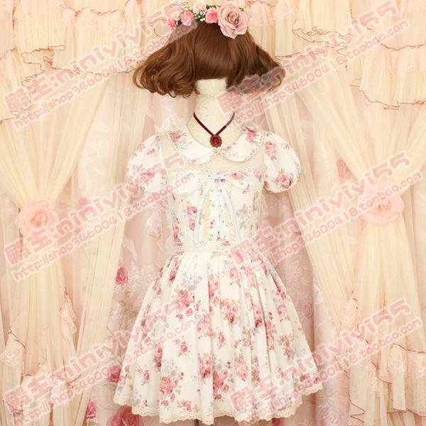 日本Tokyo Kawaii Life1周年記念花柄连衣裙日系甜美可爱碎花洋装