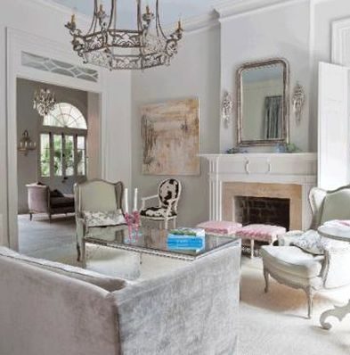 French Quarter New Orleans Living Room Interior Design