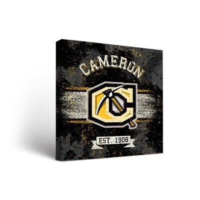 """Victory Tailgate NCAA Banner Version Framed Graphic Art on Wrapped Canvas NCAA Team: Cameron University Aggies, Size: 24"""" H x 24"""" W x 1.5"""" D"""