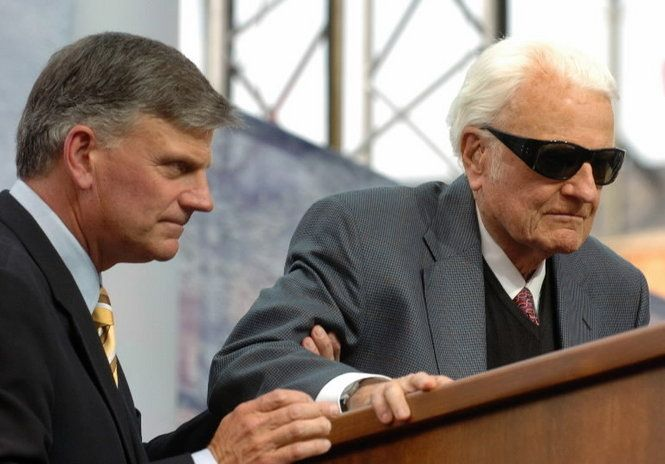 Billy Graham and son